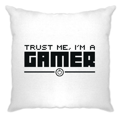 Gaming Cushion Cover Trust Me, I'm a Gamer Slogan