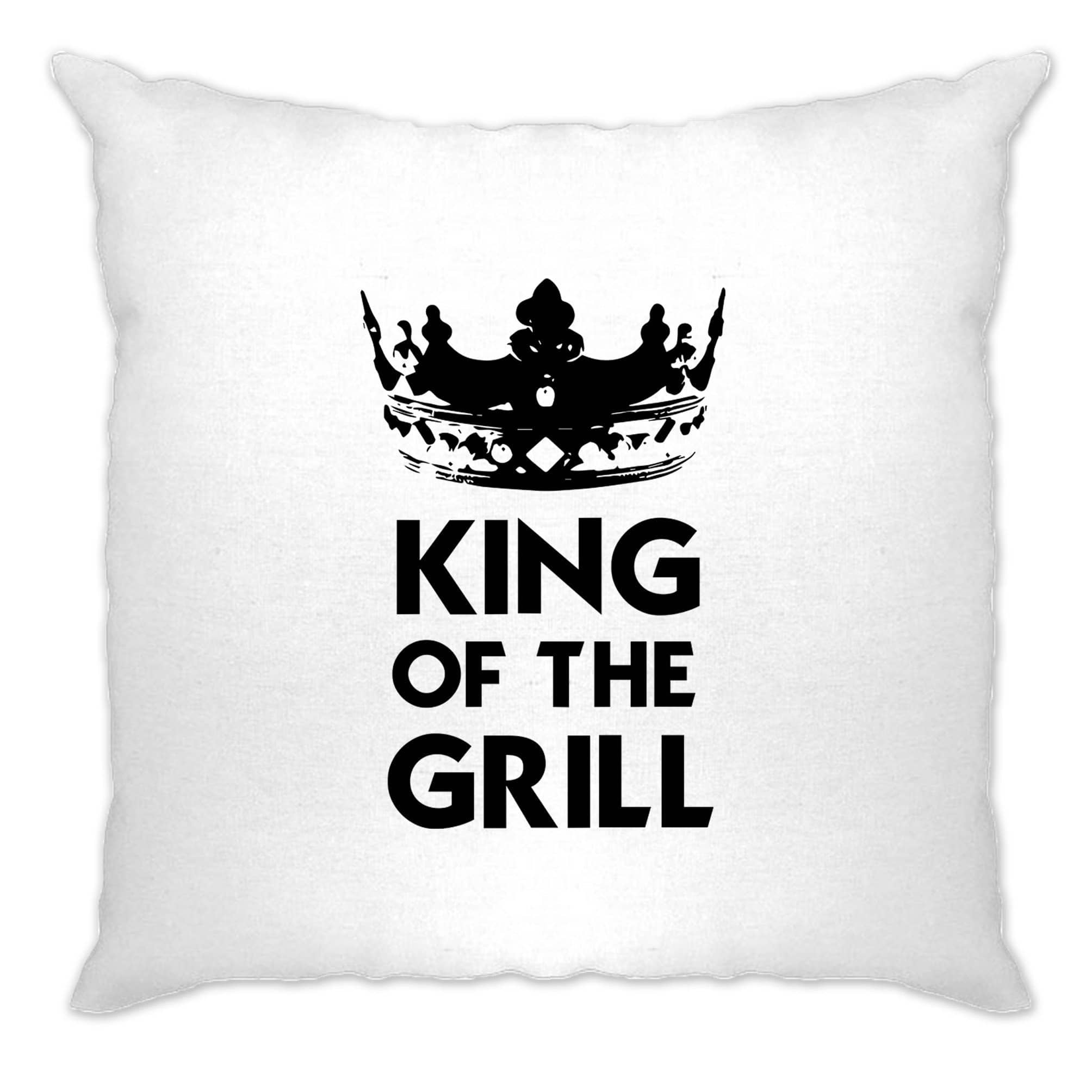 Novelty Cooking Cushion Cover King Of The Grill Slogan