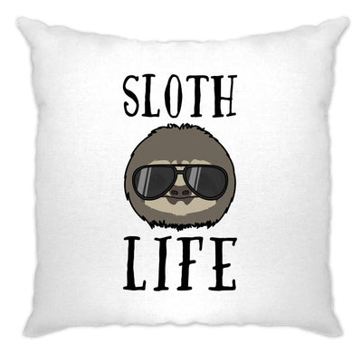 Novelty Animal Cushion Cover Sloth Life Pun Slogan