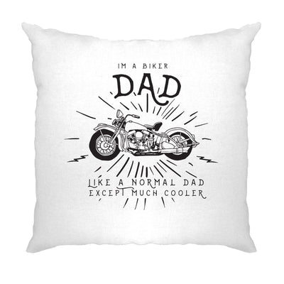 Motorcycle Cushion Cover I'm A Biker Dad Slogan