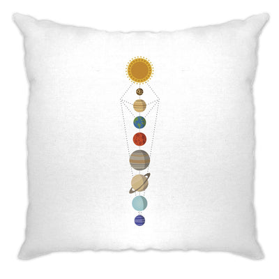Cool Nerdy Cushion Cover Geometric Solar System Space Art