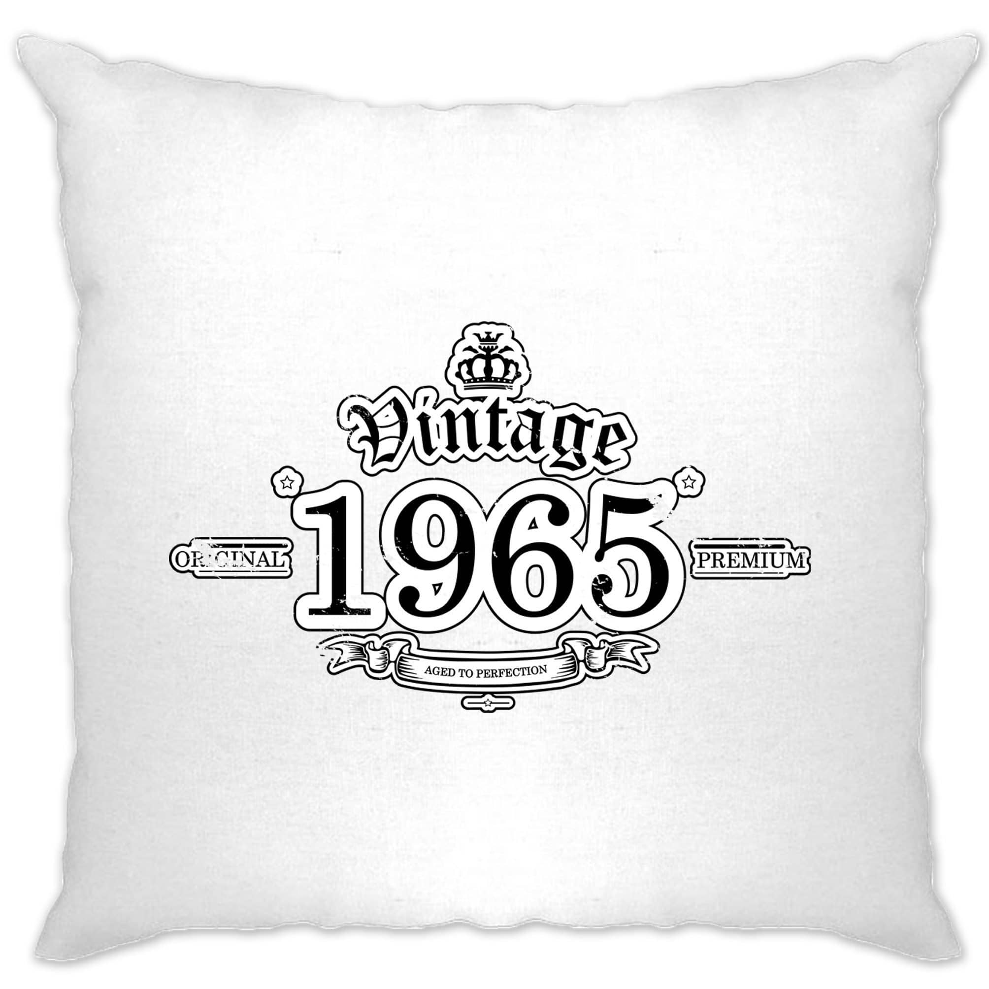 53rd Birthday Cushion Cover Vintage 1965 Aged To Perfection