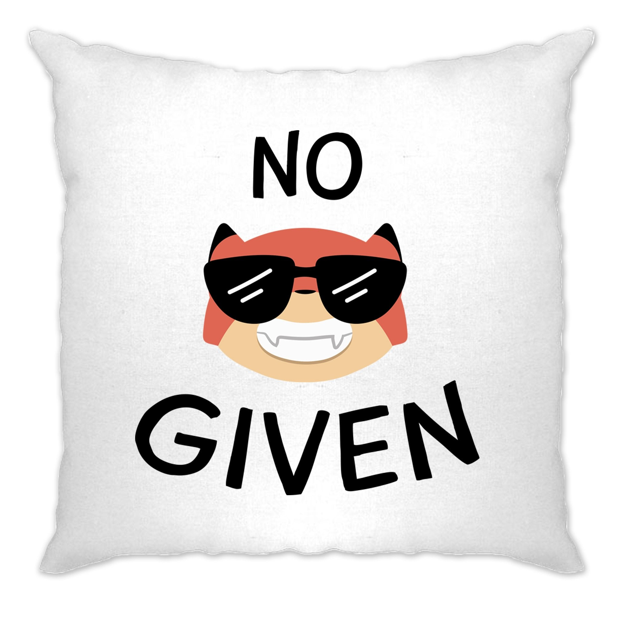 Novelty Animal Pun Cushion Cover No Fox Given Joke
