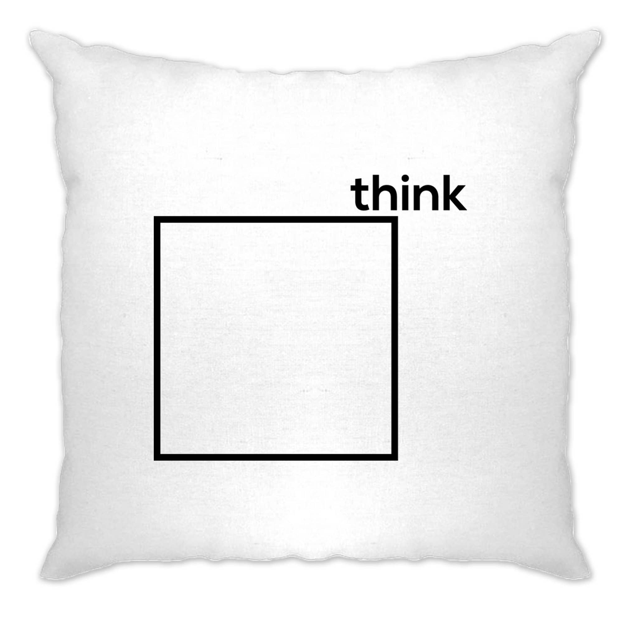 Novelty Cushion Cover Think Outside The Box Pun