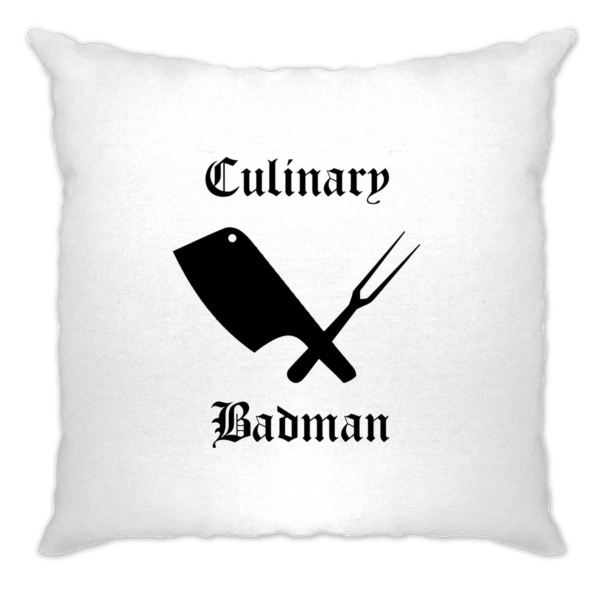 Cooking Cushion Cover Culinary Badman Cuisine Logo