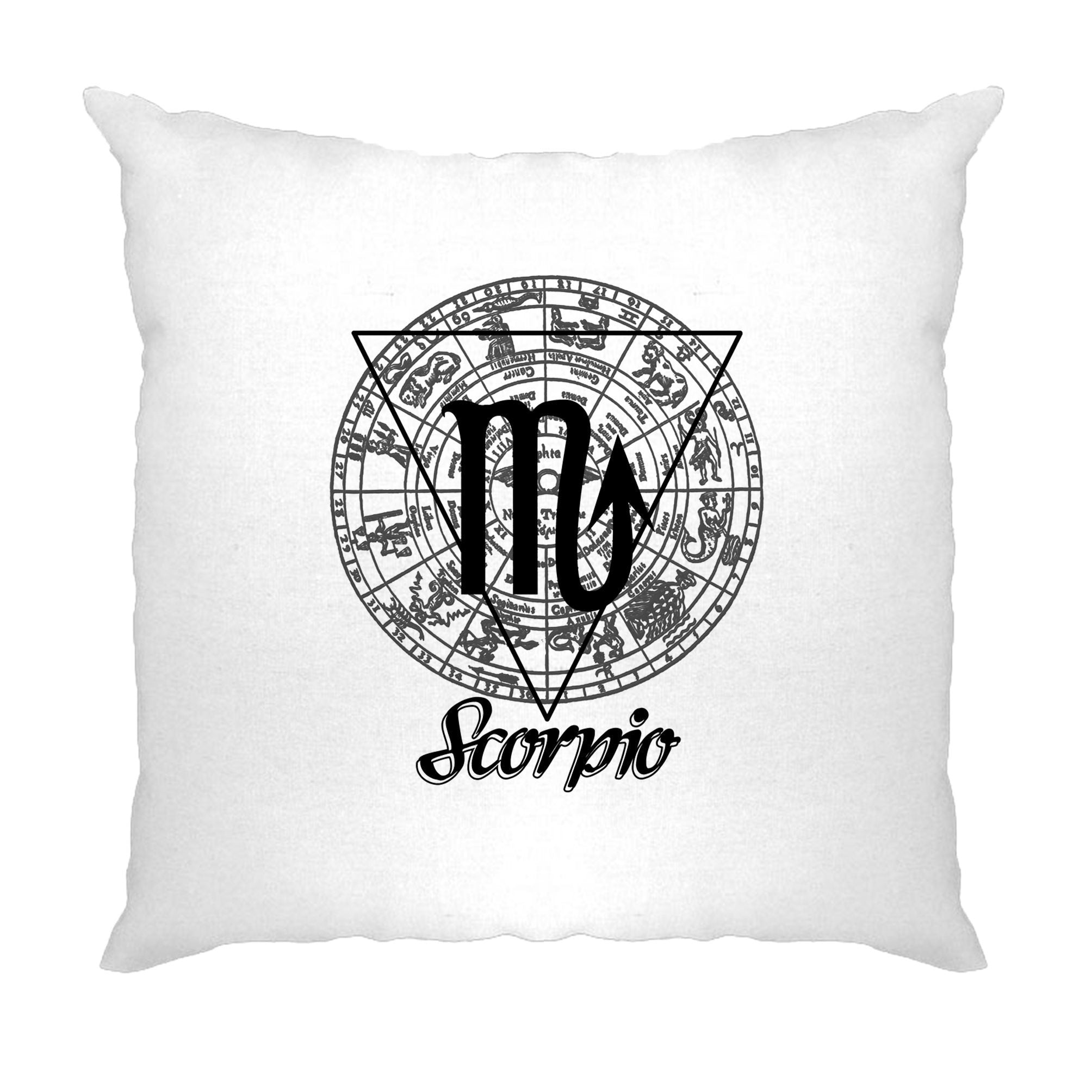 Horoscope Cushion Cover Scorpio Zodiac Star Sign Birthday