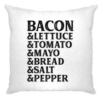 BLT Cushion Cover Bacon Lettuce Tomato Sandwhich