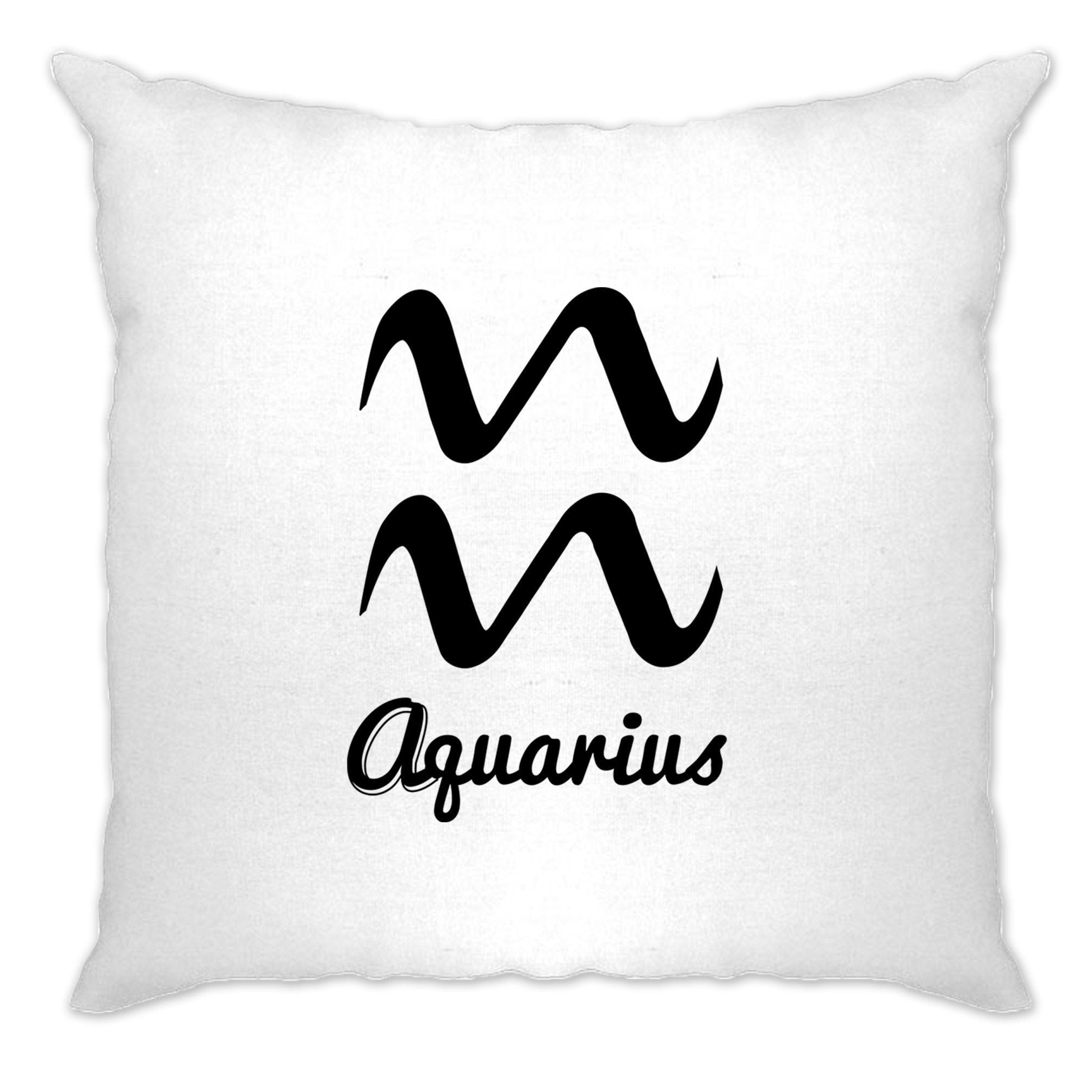 Horoscope Cushion Cover Aquarius Zodiac Star Sign Birthday