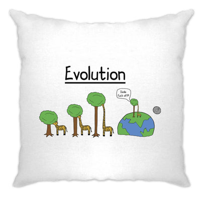 Novelty Cushion Cover Evolution Of A Giraffe And Tree