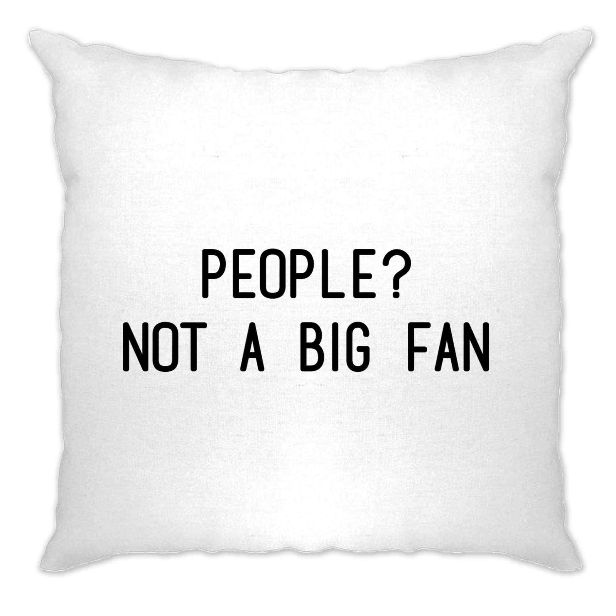 Awkward Joke Cushion Cover People? Not A Big Fan Slogan