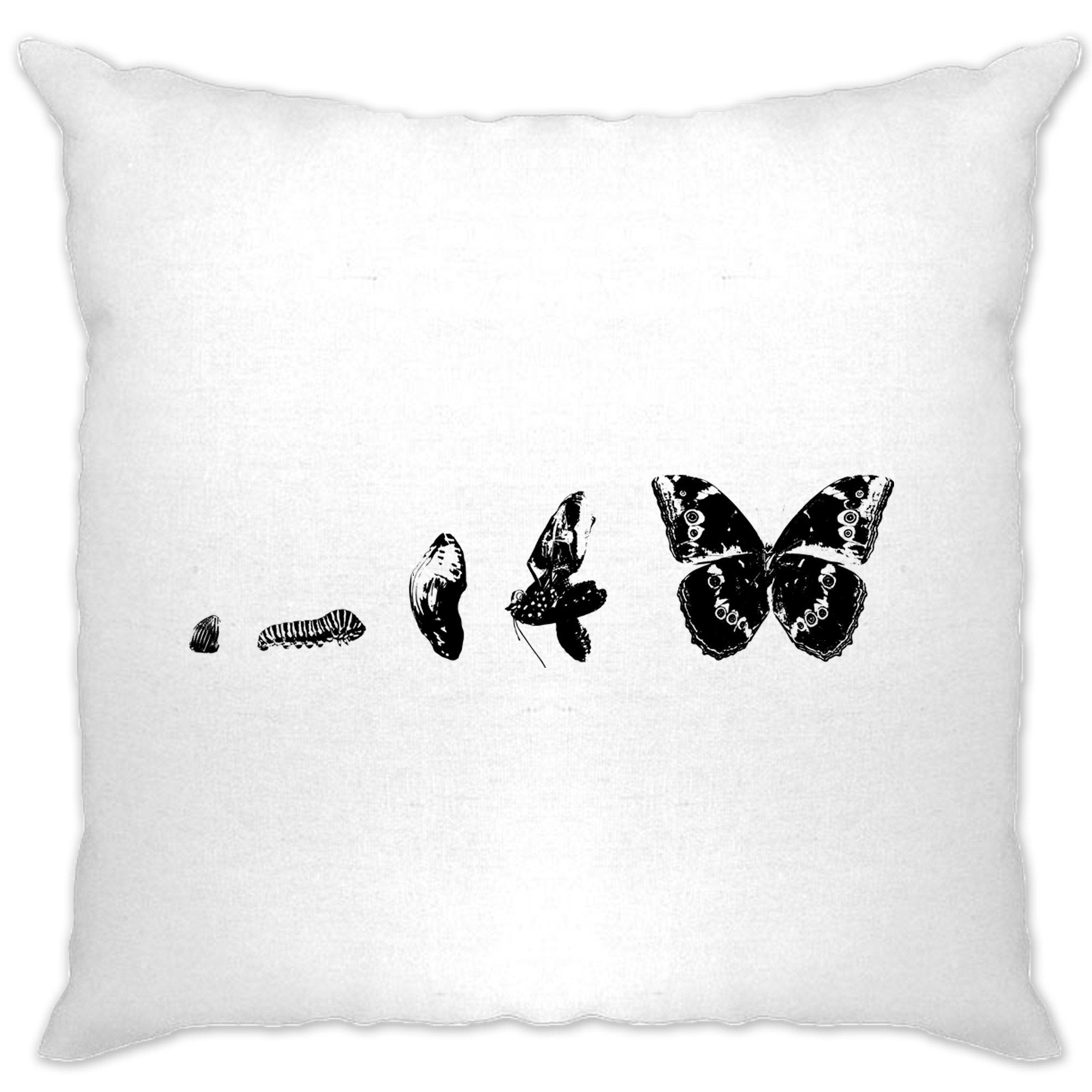 Nature Cushion Cover Evolution Of A Caterpillar To Butterfly