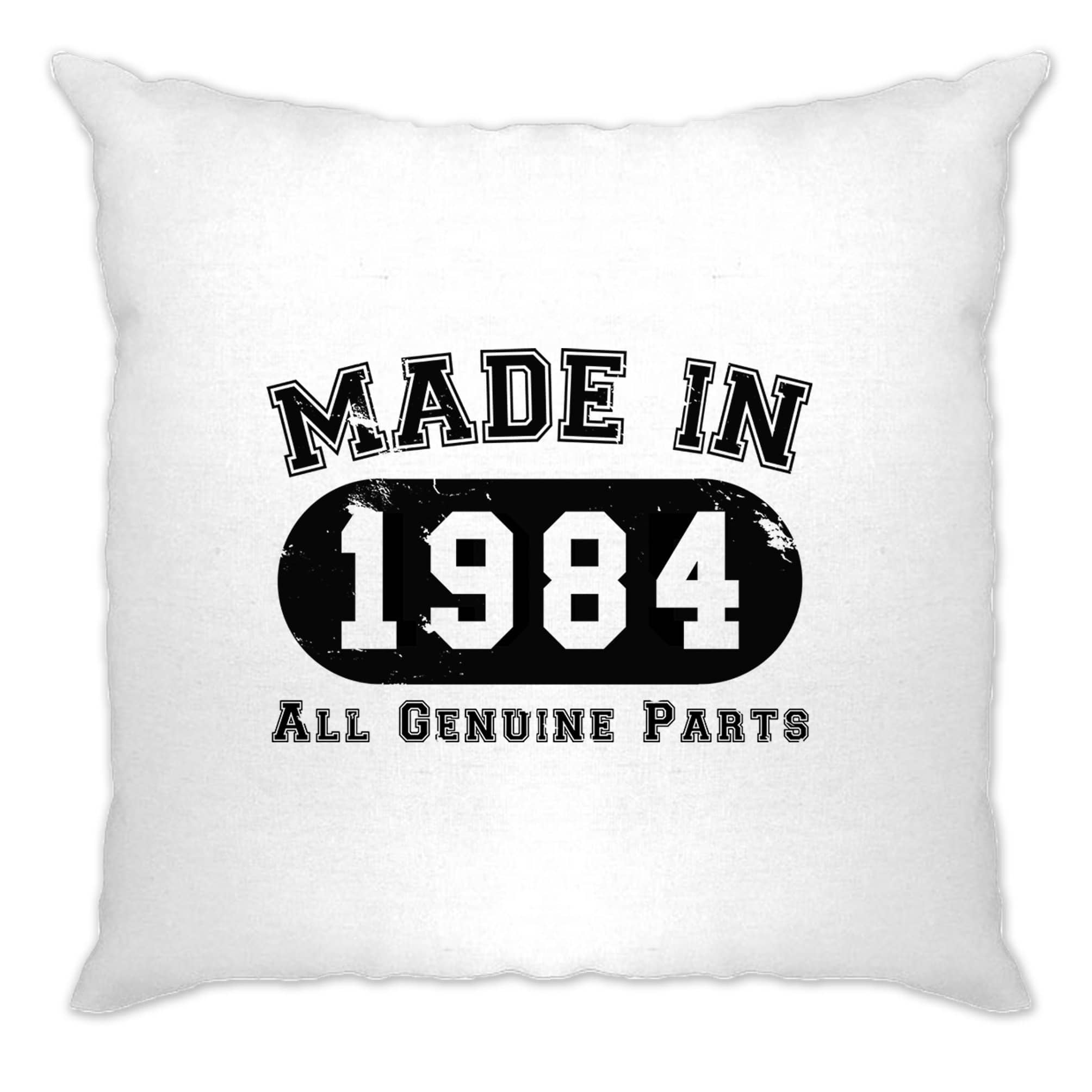 Birthday Cushion Cover Made in 1984 All Genuine Parts