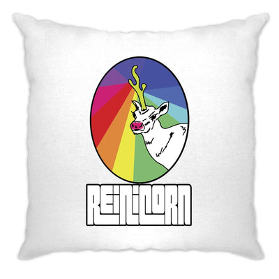 Christmas Cushion Cover Reinicorn Reindeer Unicorn Rainbow
