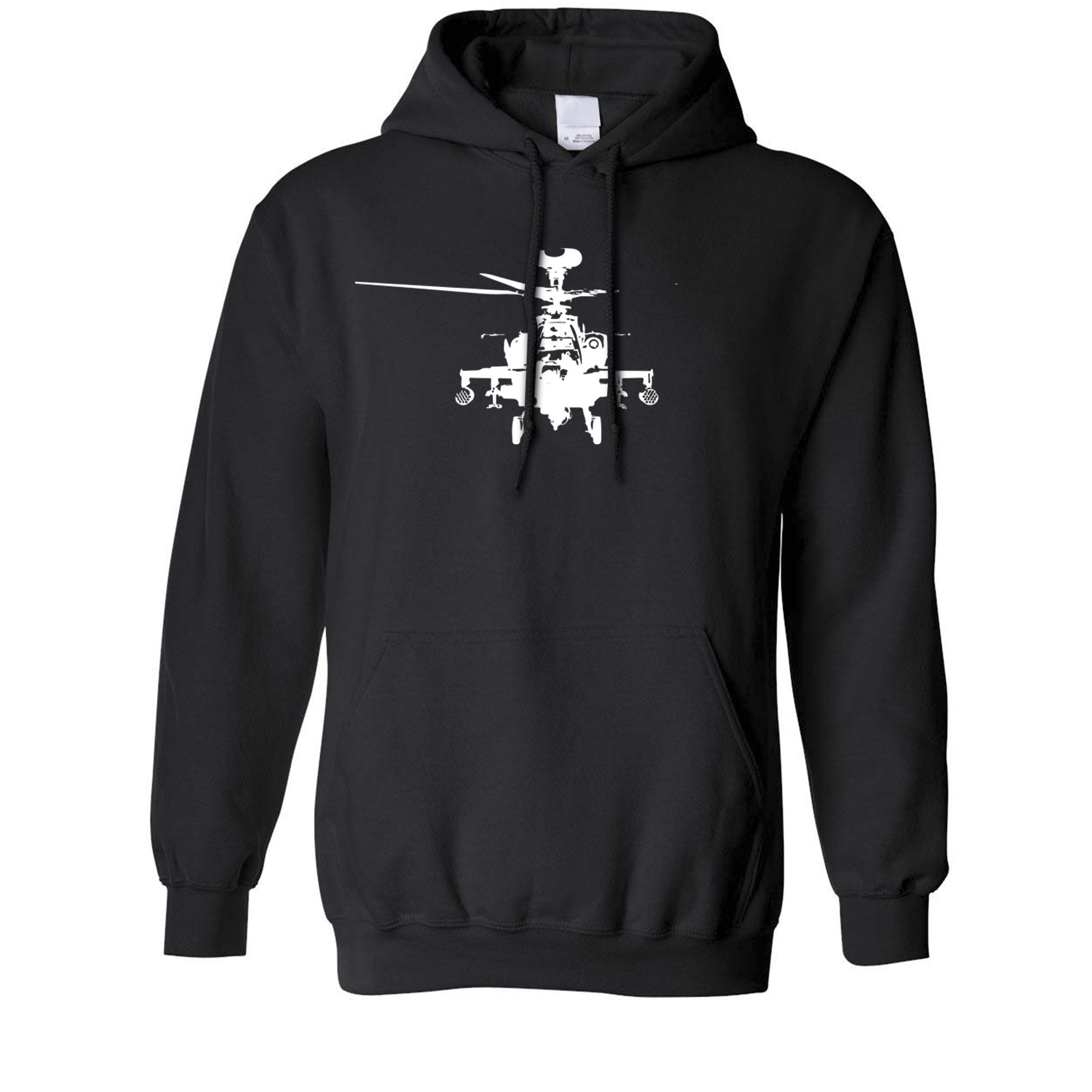 Military Hoodie Apache Attack Helicopter AH64 Hooded Jumper