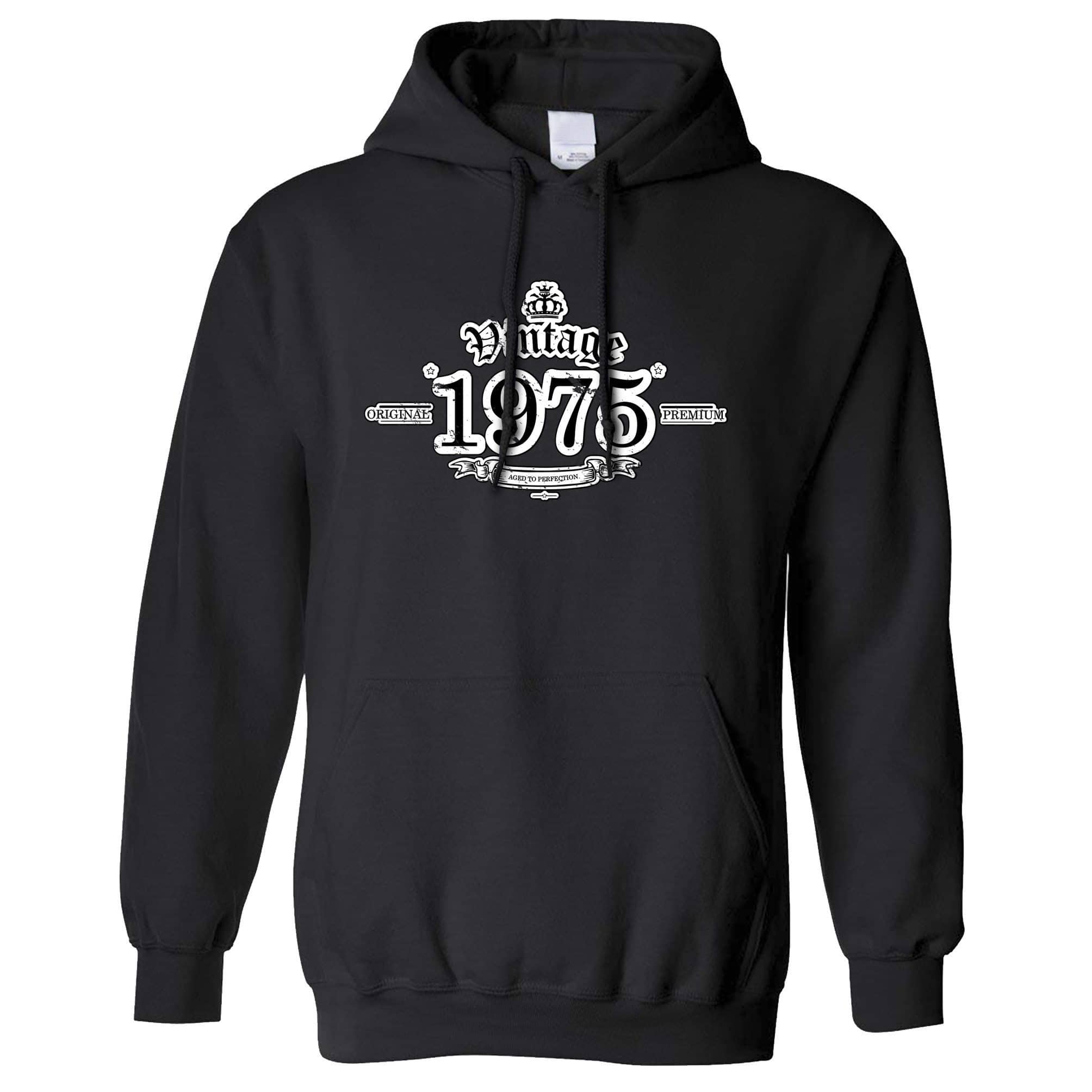 43rd Birthday Hoodie Vintage 1975 Aged To Perfection Hooded Jumper