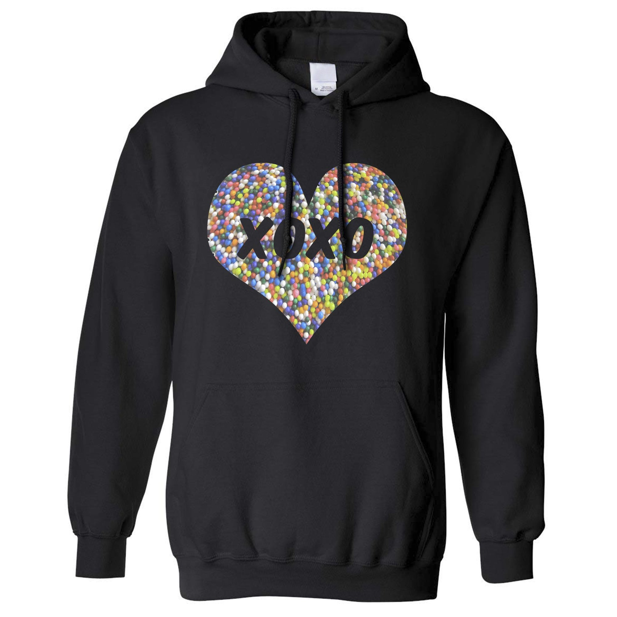 Sweetheart Hoodie Hood XOXO Love And Kisses Logo