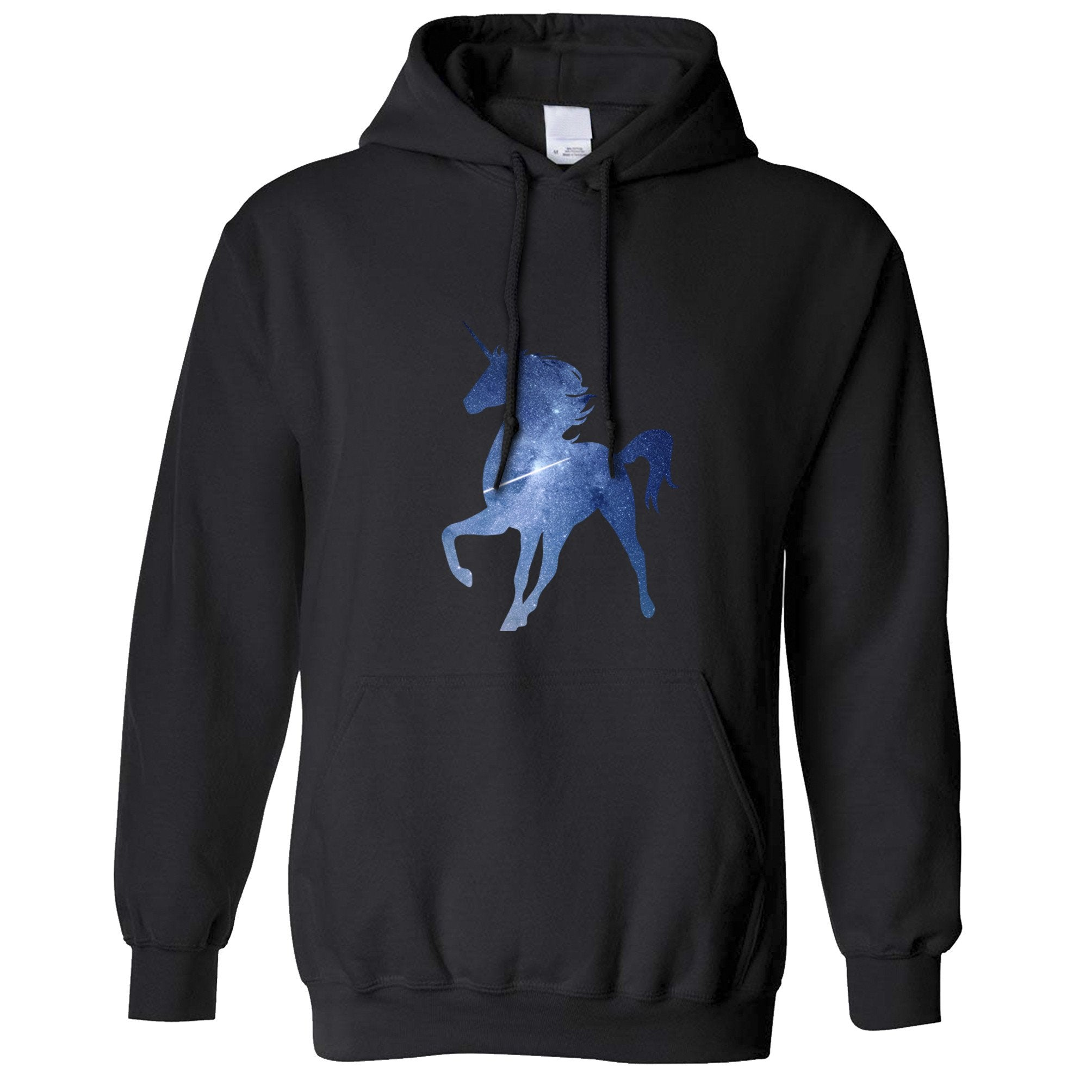 Mythical Space Hoodie Galaxy Unicorn Silhouette Hooded Jumper
