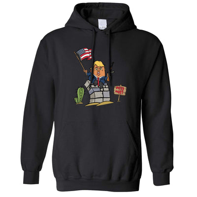 Novelty Hoodie Trumpty Dumpty Built A Big Wall Joke Hooded Jumper