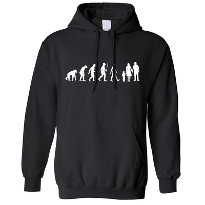 Parenthood Hoodie Evolution Of A Family Two Boys Hooded Jumper