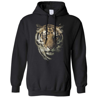 Tiger Face Hoodie Hood Majestic Big Cat Head