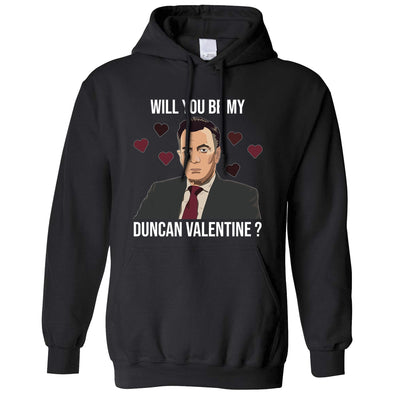 Valentine's Hoodie Be My Duncan Valentine Hooded Jumper
