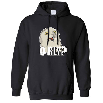 Joke Internet Meme Hoodie ORLY Snowy Owl Slogan Hooded Jumper