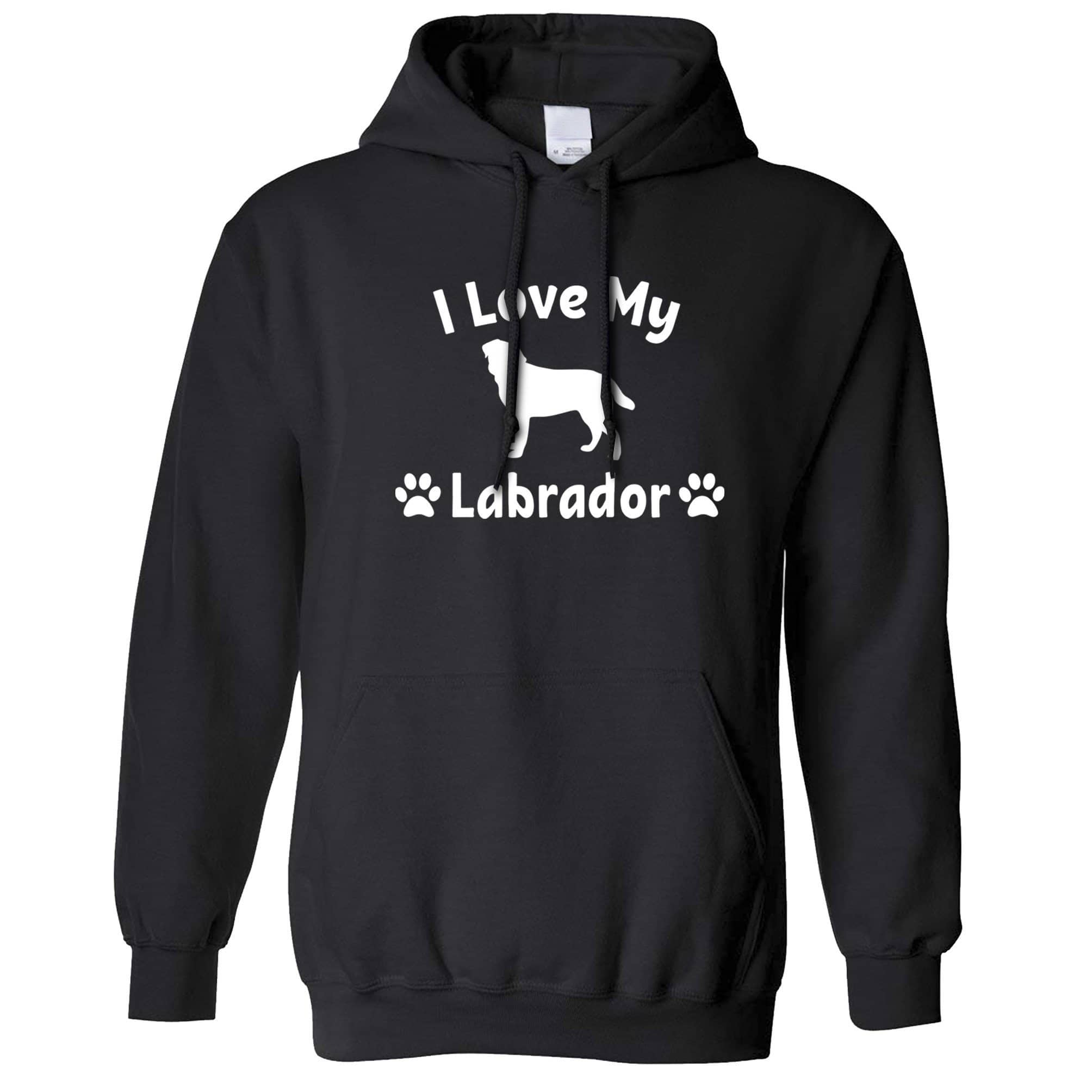 Dog Owner Hoodie I Love My Labrador Slogan Hooded Jumper