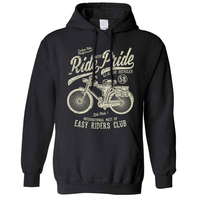 Cycling Hoodie Ride With Pride Retro Cyclist Bike Hooded Jumper