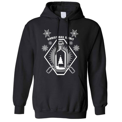 Booze Hoodie Christmas Alcohol Bottle Hooded Jumper