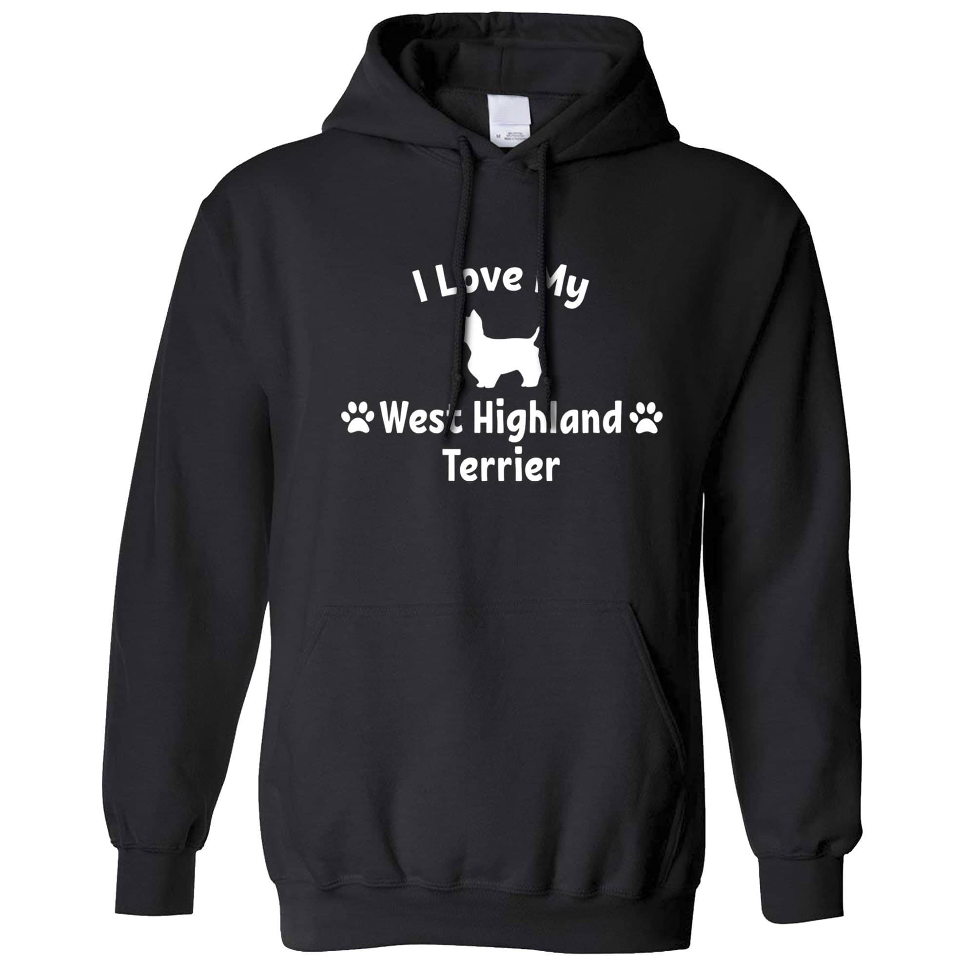 Dog Owner Hoodie I Love My West Highland Terrier Hooded Jumper