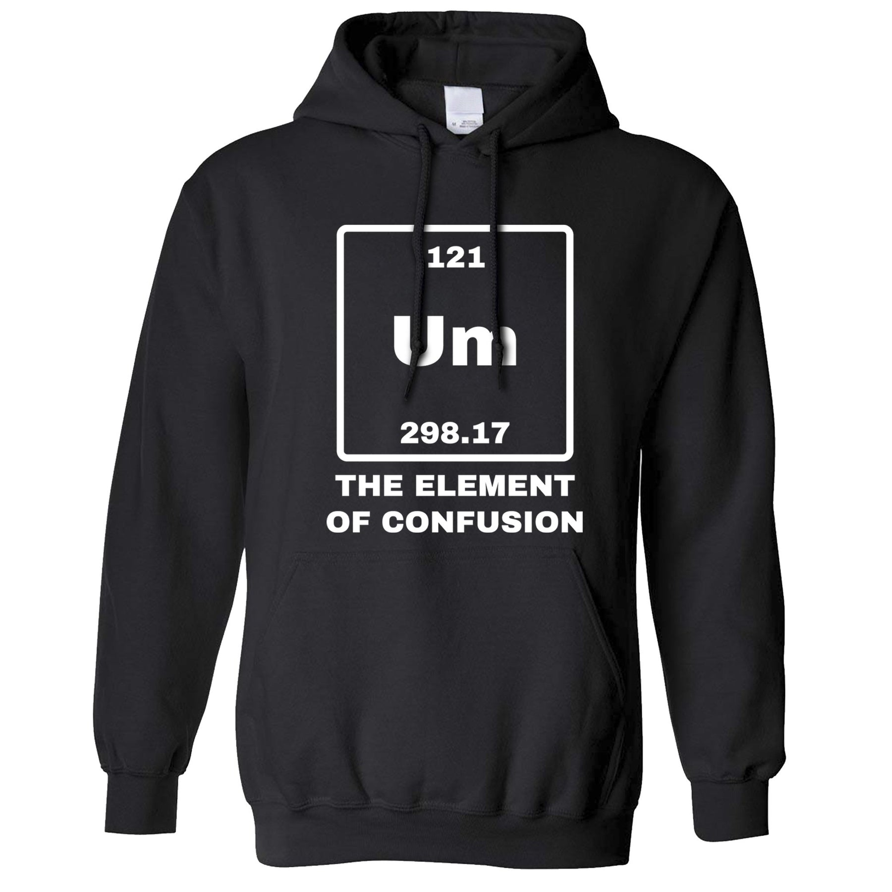 Science unisex hoodie um the element of confusion periodic table science unisex hoodie um the element of confusion periodic table funny science urtaz Image collections