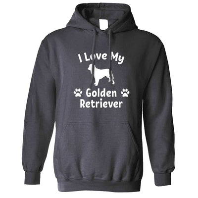 Dog Owner Hoodie I Love My Golden Retriever Hooded Jumper