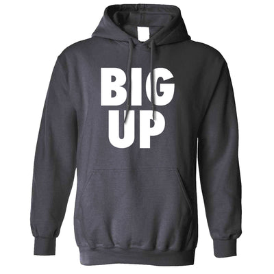 Streetwear Slogan Hoodie Big Up Text Hooded Jumper