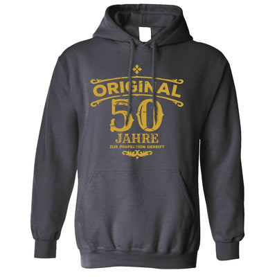 50th Birthday Hoodie Original Aged 50 Fifty Years Hooded Jumper
