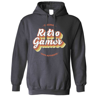 Novelty Hoodie Original Retro Gamer, 100% Authentic Hooded Jumper