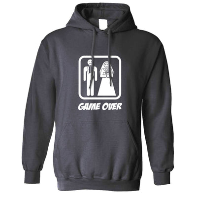 Game Over Novelty Hoodie Wedding Stag Do Hen Night Hooded Jumper