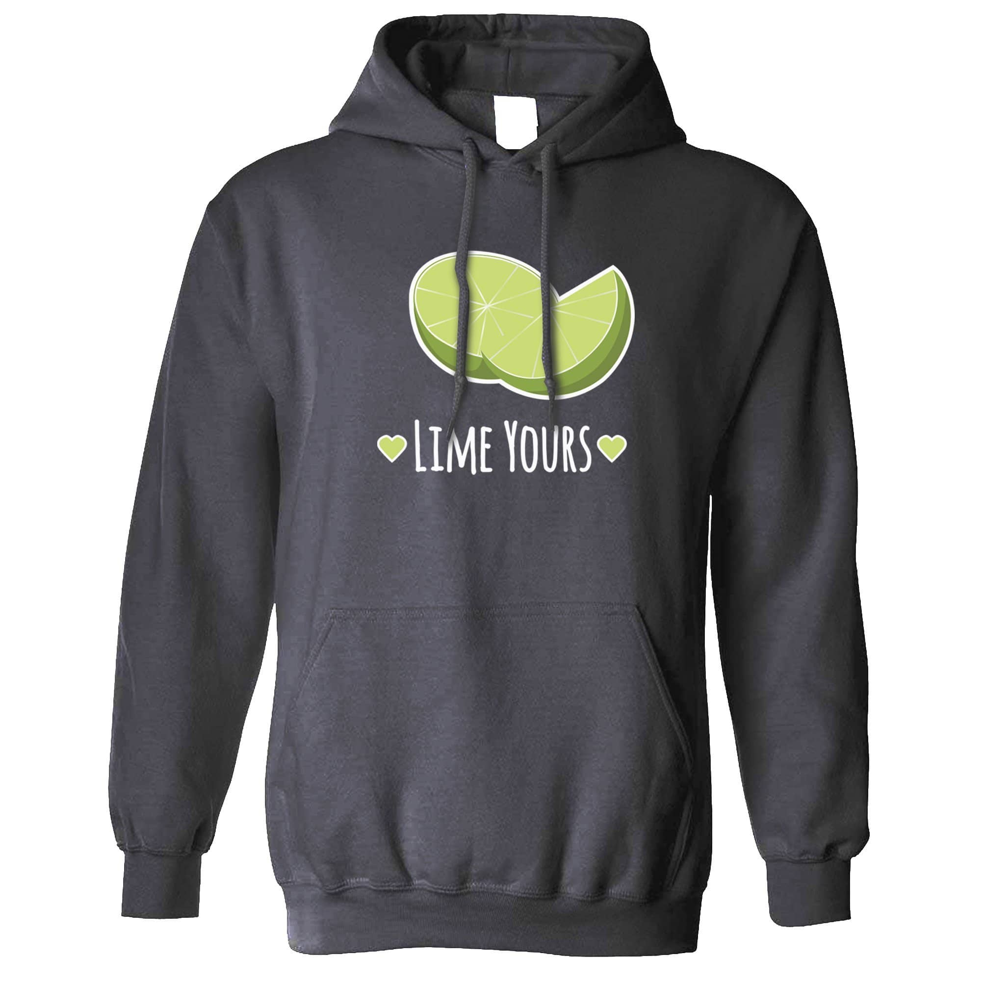 Novelty Couples Pun Hoodie I'm Yours Lime Joke Slogan Hooded Jumper