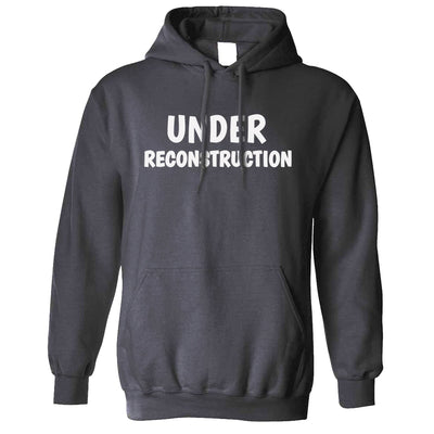 Novelty Gym Hoodie Under Reconstruction Slogan Hooded Jumper