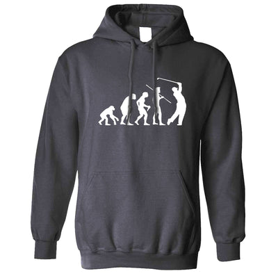 Novelty Golf Hoodie Evolution Of A Golfer Hooded Jumper