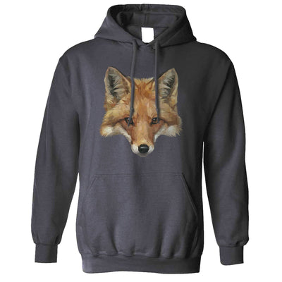 Animal Art Hoodie Low Poly Fox Graphic Hooded Jumper