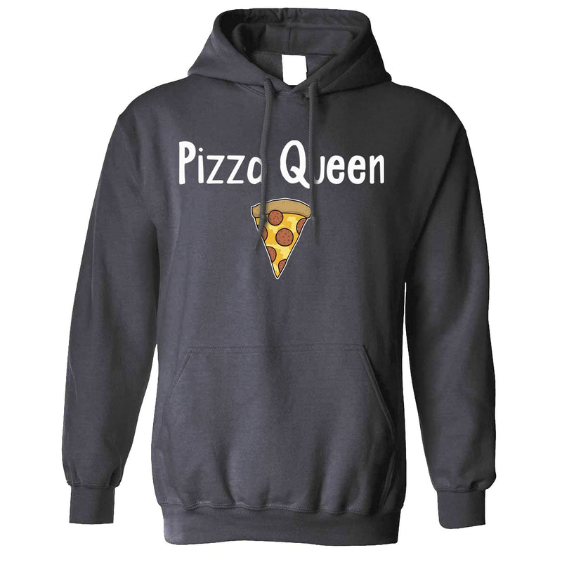 Funny Food Unisex Hoodie Pizza Queen Slogan With Slice
