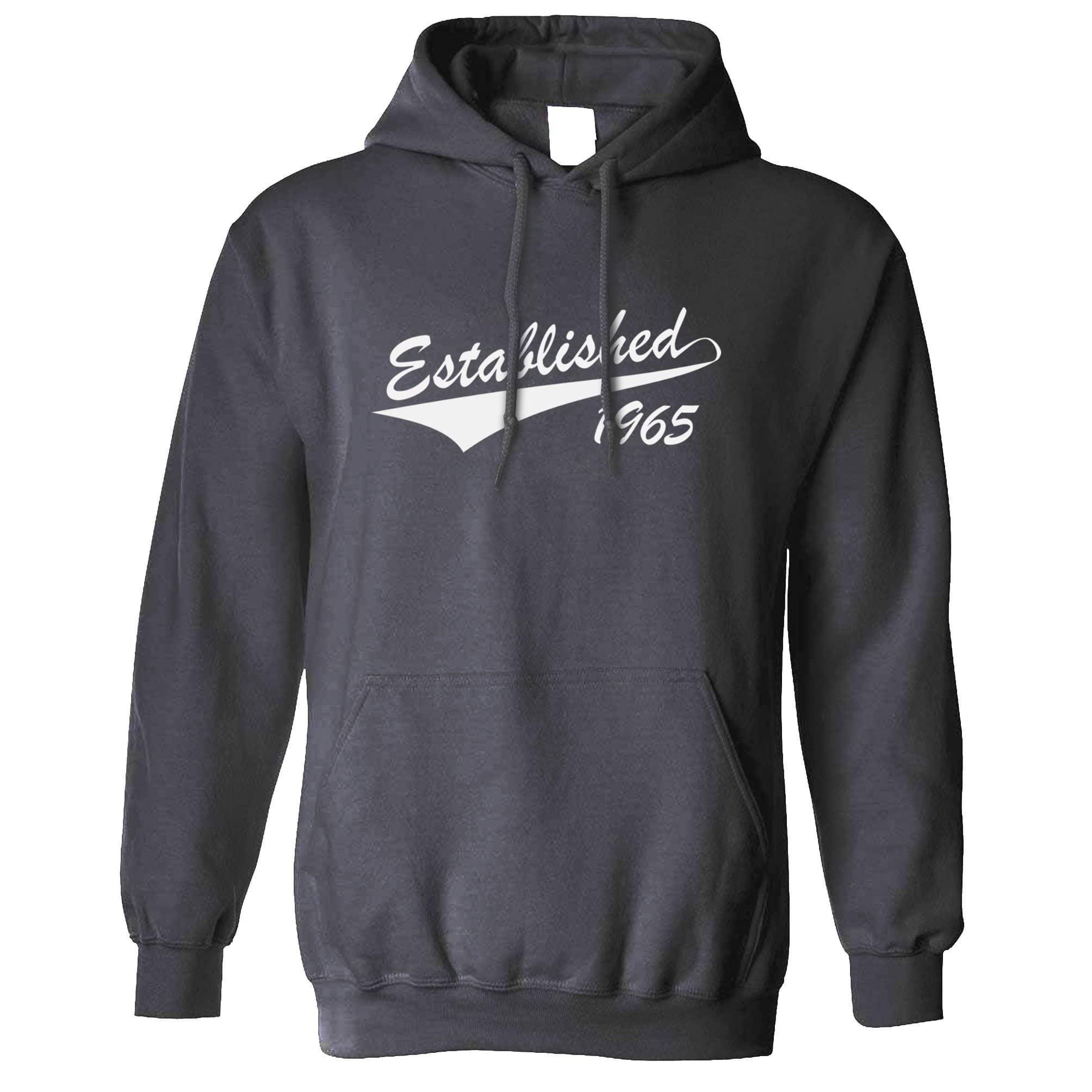 Birthday Hoodie Established in 1965 Logo Hooded Jumper