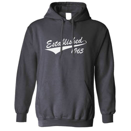Birthday Unisex Hoodie Established in 1965 Logo