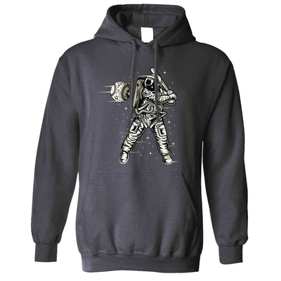 Geeky Sports Hoodie Astronaut Space Baseball Art Hooded Jumper