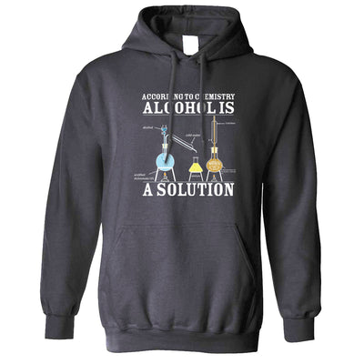 Pub Hoodie According To Chemistry Alcohols a Solution Hooded Jumper