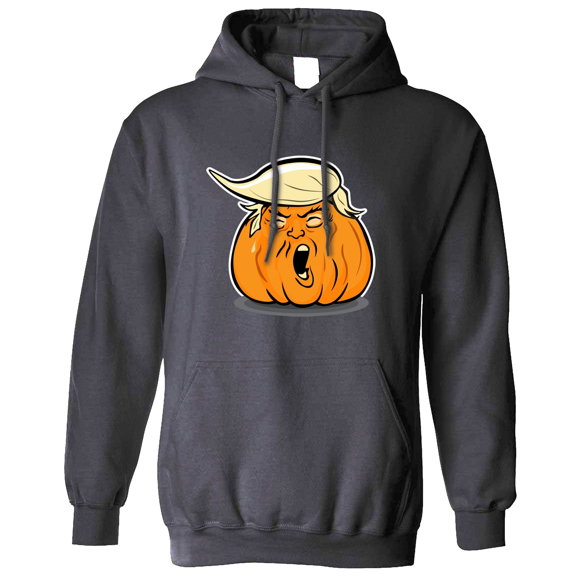 Donald Trump Hoodie Haloween Trumpkin Joke Hooded Jumper