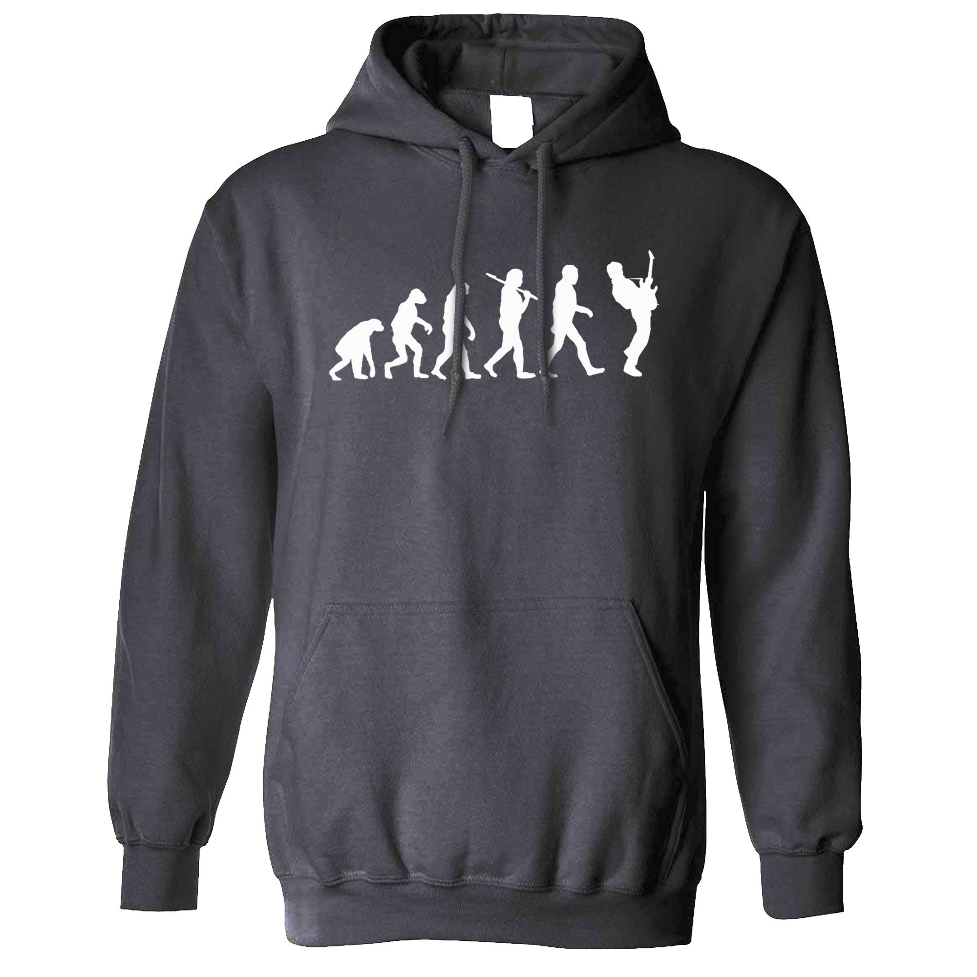 Musician Hoodie Evolution Of A Guitarist Hooded Jumper