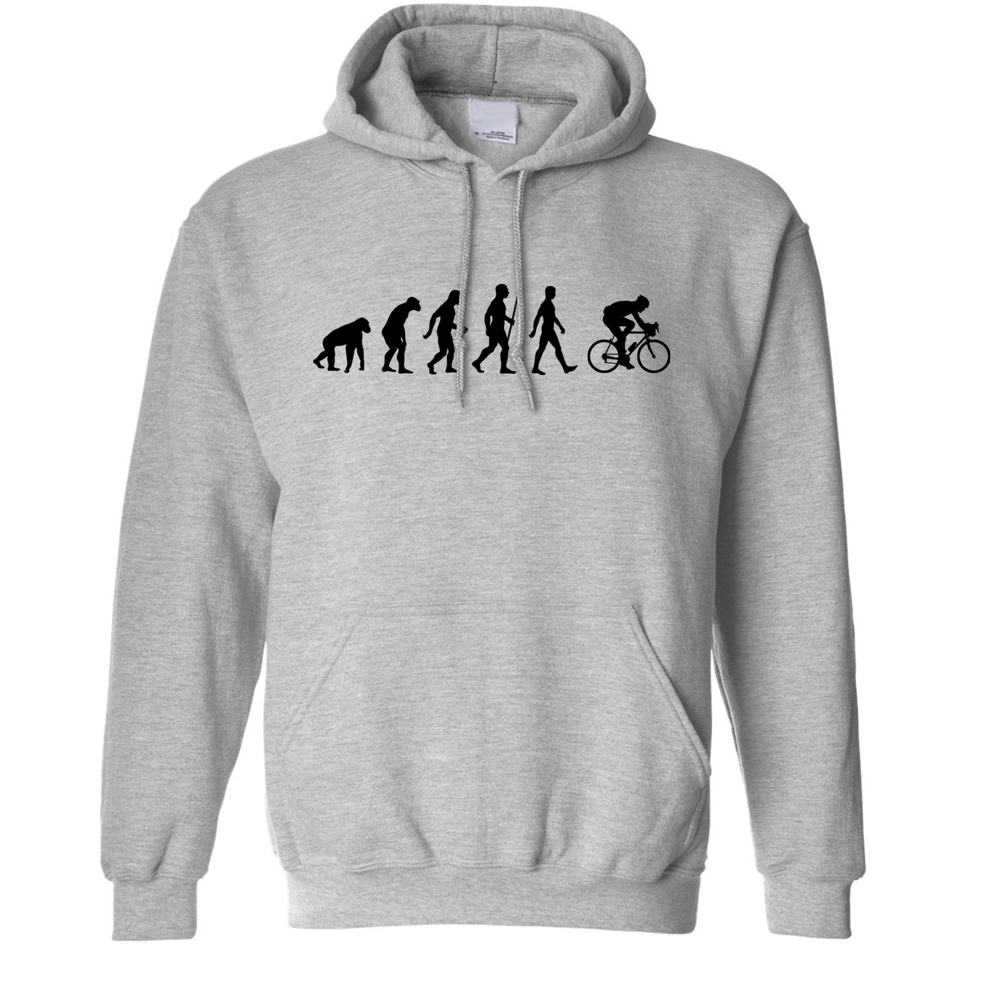 Novelty Hoodie The Evolution of Cycling Hooded Jumper