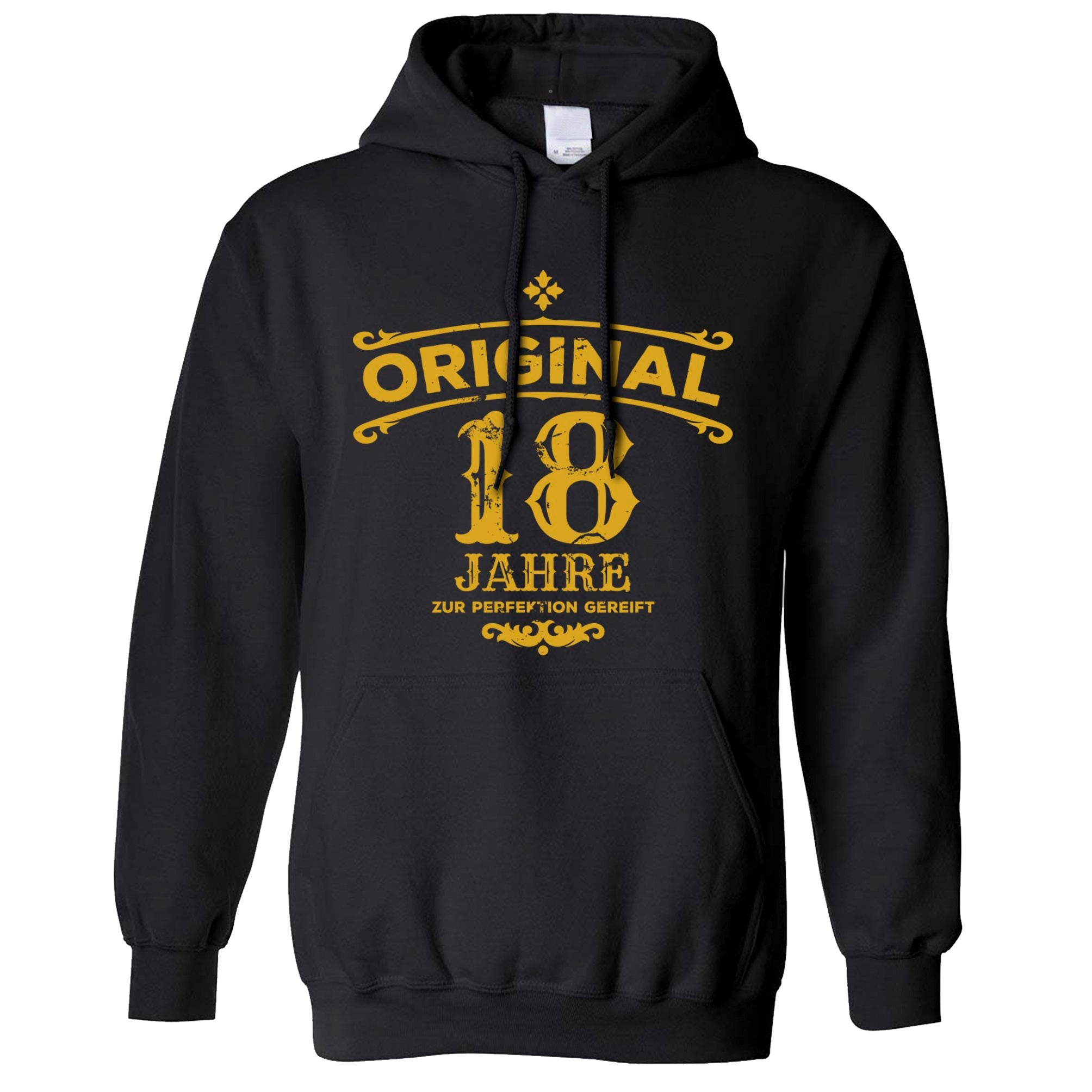 18th Birthday Hoodie Original Aged 18 Eighteen Years Hooded Jumper