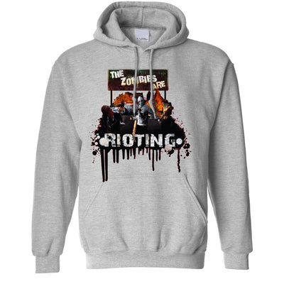 Halloween Hoodie The Zombies Are Rioting Art Hooded Jumper